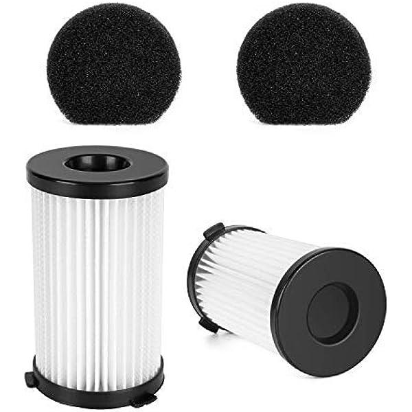 MooSoo 2 HEPA y 2 filtros de Esponja para aspiradora D600 con Cable …: Amazon.es: Hogar