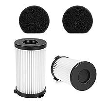 MOOSOO 2 HEPA and 2 Sponge Filter for D601 Corded Vacuum Cleaner