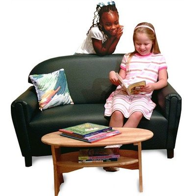 Brand New World School Age Premium Vinyl Upholstery Sofa -Teal School Age Seating Set