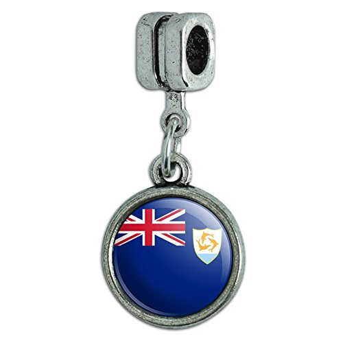 Italian European Style Bracelet Charm Bead Country National Flag A-C - Anguilla National Country Flag