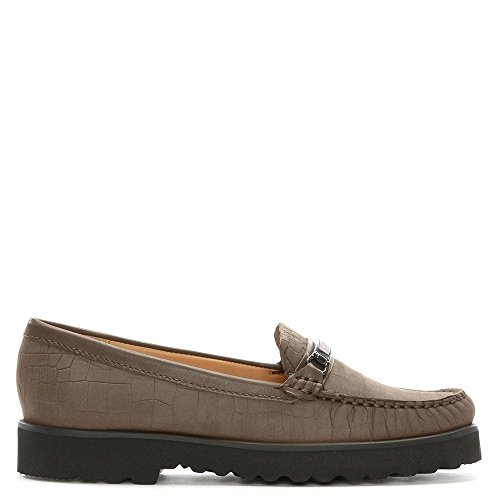 Guppy Reptile Daniel Suede Taupe Taupe Embossed Croc Loafers aqgqEdn