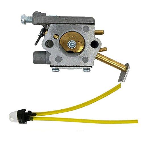 Savior Carburetor with Primer Bulb Fuel Line for Homelite UT-10532 UT-10926 300981002 Ryobi RY74003D 33cc Carb Chainsaw