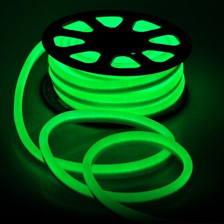 柔軟なグリーン1200 LED電球ネオンロープチューブライト50-ft 110 V 73 W W /電源コードコネクタカバー接着剤DIYホリデーカットリボンx-mas装飾照明アウトドア B010MEO9XC