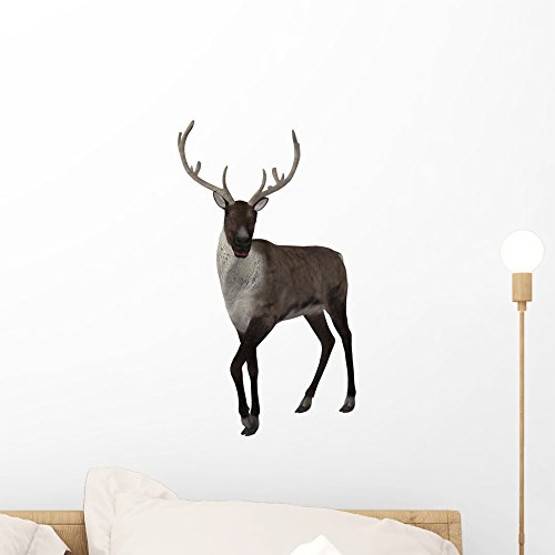 Wallmonkeys Reindeer Wall Decal Peel and Stick Graphic (18 in H x 15 in W) ()