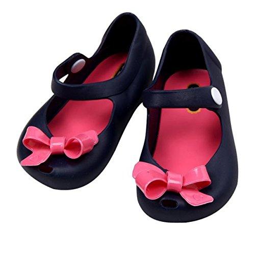 Tefamore Sandalias Zapatos Detallada Jelly Bowknot Boca De Los Peces Niños Lindos Bebés Azul oscuro