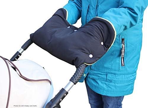 noir ByBoom Chauffe-mains avec int/érieur en polaire Taille universelle pour poussette remorque de v/élo Couleur poussette