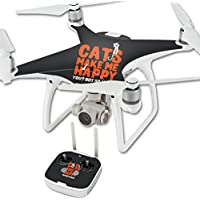 Skin For DJI Phantom 4 Quadcopter Drone – Cats Make Me Happy | MightySkins Protective, Durable, and Unique Vinyl Decal wrap cover | Easy To Apply, Remove, and Change Styles | Made in the USA