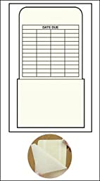 Peel and Stick Book Pockets - High Back - GL Date Grid - 6-1/4\