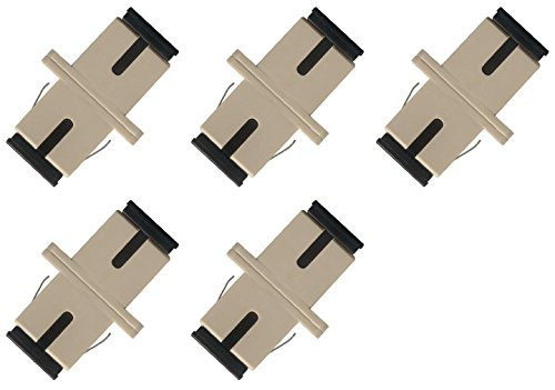 (Fiber Optic Cable Adapter Coupler SC-SC Simplex Multimode 5 Pack)
