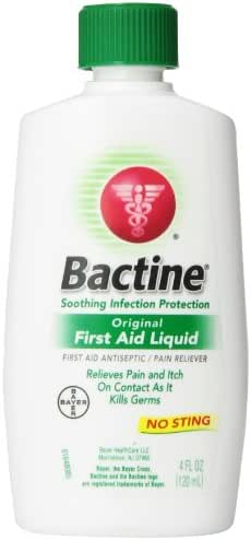 Antiseptics & Wound Care: Bactine First Aid Liquid