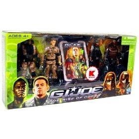 G.I. Joe Movie The Rise of Cobra Exclusive 3 3/4 Inch Action Figure 4-Pack G.I. Joe Versus Cobra ()