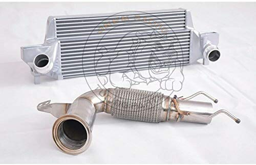 200Cell Cat Downpipe+Intercooler For B.M.W MINI COOPER S MK3 F56 2.0T (35HP+ 2014+)