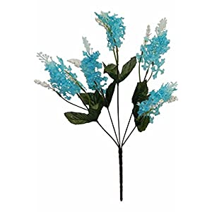 Artificial Garden 5 Lilac TURQUOISE AQUA TEAL BLUE Silk Flower Floral Arrangements Wedding Flower Bouquet Centerpiece 54