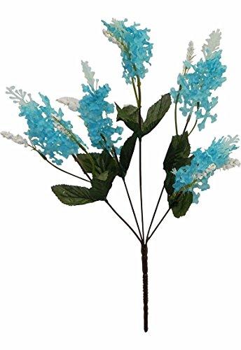 Artificial Garden 5 Lilac TURQUOISE AQUA TEAL BLUE Silk Flow