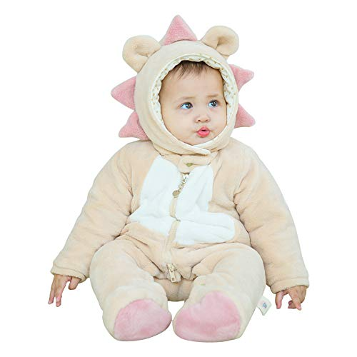 mikistory Infant Romper Newborn Unisex Costume for Baby Newborn Outfit Hoodie Winter Baby Outfits Bodysuits Apricot Lion -