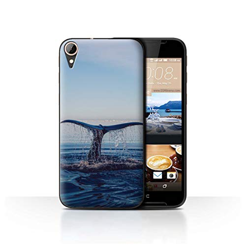 STUFF4 Phone Case/Cover for HTC Desire 830 / Fin Nose Dive Design/Sea Life Dolphins Collection ()