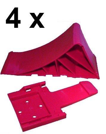 Unterlegkeil mit Halter 1600 kg Farbe und Menge w/ählbar Halter R Keil:4 x Keil