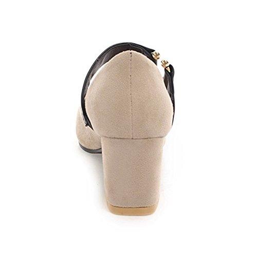 Coolcept Women Block Heel Court Shoes Beige 5JAuZM0D8O
