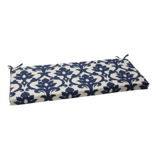 Pillow Perfect Indoor/Outdoor Bosco Bench Cushion, Navy (45 X Cushion Bench Outdoor 16)