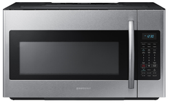 Shop Samsung 1.8-cu ft Over-The-Range Microwave with Sensor Cooking Controls (Stainless Steel) (Common: 30-in; Actual: 29.87-in) at Lowes.com