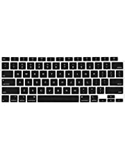 TERSELY Silicone Keyboard Cover Case Skin Protector for Apple MacBook Air 13.3 inch A2179 2020 Released Protective Skin, Black
