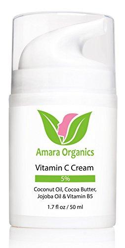 Vitamin C Creme für Gesicht - Feuchtigkeitscreme mit Kokosöl, Kakaobutter, Jojobaöl & Vitamin B5 - 50 ml