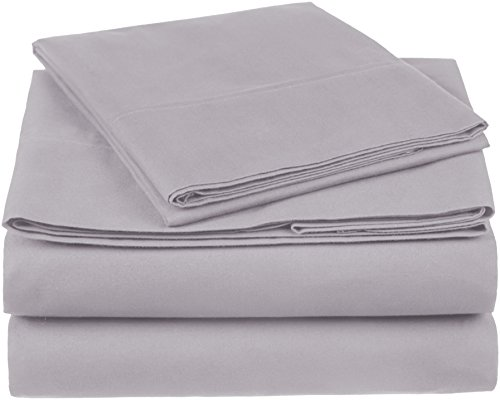 Pinzon 300 Thread Count Organic Cotton Sheet Set - Twin, Dove Grey