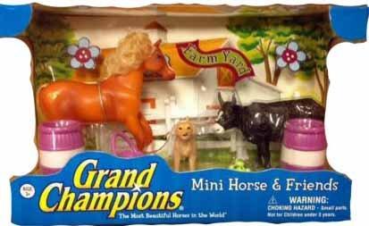Grand Champions Mini Horse & Friends: Palomino Quarter Horse Farm Yard Set