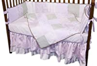 Baby Doll Bedding Rose Garden Brocade and Embroidered Cradle Bedding Set, Green