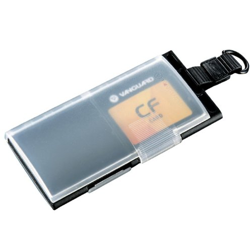 Vanguard MCC41 Dual Sided Memory Card Case with Attached Loop, for Karabiners & Keychains, Holds 4 CF Compact Flash (Vanguard Computer Case)