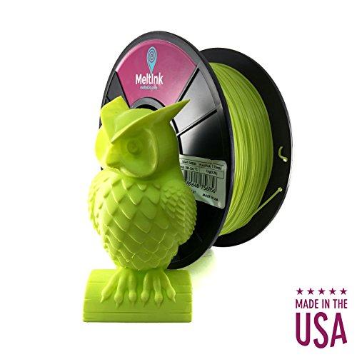 MeltInk3d Light Green 2.85mm PLA/PHA 3D Printer Filament 1Kg