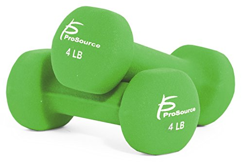 ProSource Set of Two Neoprene Dumbbells Coated for Non Slip Grip, 1 lb 12 lb