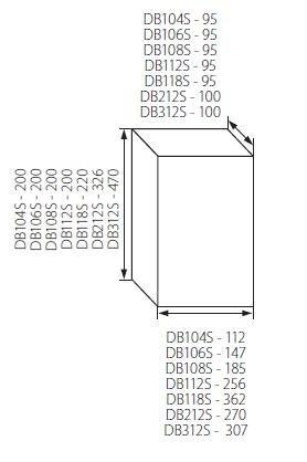 Sicherungskasten Kleinverteiler IP40 aufputz Unterverteilung 1-reihig 18 Module 1x18 einreihig mit DIN-Schiene Aufputzverteiler Verteilerk/ästen Aufbau Montage Verteilerbox