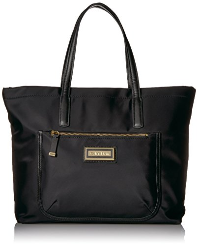 Calvin Klein Key Item Nylon Top Zip E/w Front Pocket Tote by Calvin Klein