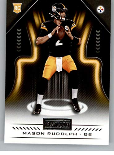 2018 Playbook Football #110 Mason Rudolph RC Rookie Card Pittsburgh Steelers Rookie Official NFL Card Produced by Panini