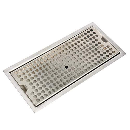 - YaeBrew Beer Drip Tray Stainless Steel Flush Mount Drip Tray w/Drain 12