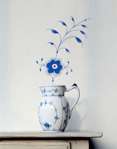 Blue Fluted Plain 5.25 oz. Sugar Bowl with Lid by Royal Copenhagen (Image #2)