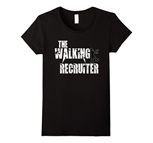 Costume 90's Hire (Womens walking Recruiter tshirts gift hire recruit scary zombie tee XL)