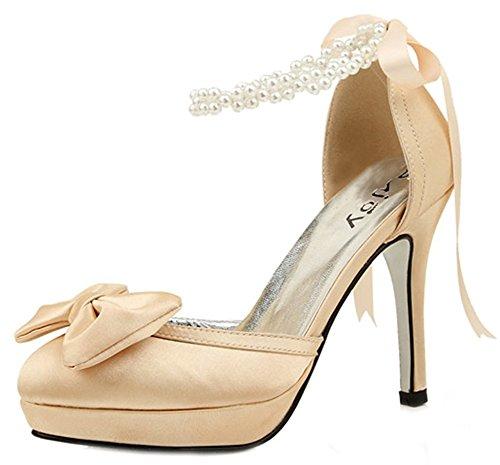 Stivaletto Da Donna Con Fibbia In Perla, Cinturino Alla Caviglia Perline