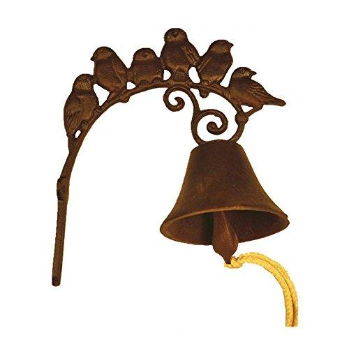 Cast Iron Outdoor Lighting (TL001 Bestplus Vintage Cast Iron Birds Doorbell, Antique Rust)