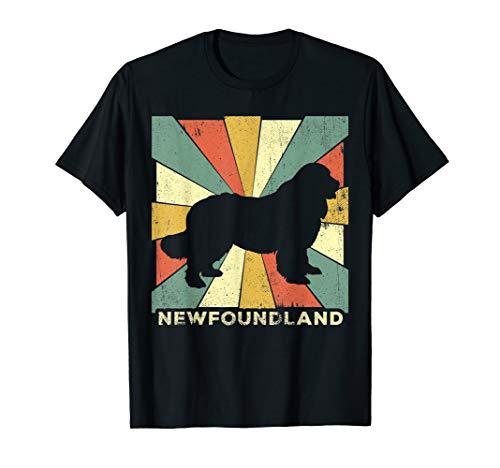 Newfoundland Dog Shirt Retro 70s Vintage Gift T-Shirt