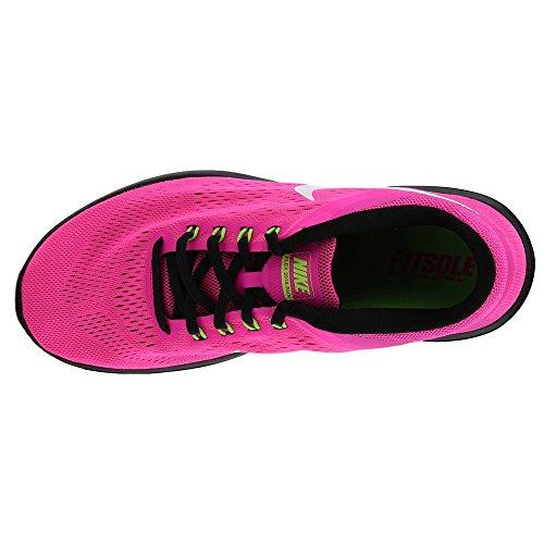Nike Mujeres Flex 2016 Rn Zapatillas Para Correr Pink Blast White Black 600
