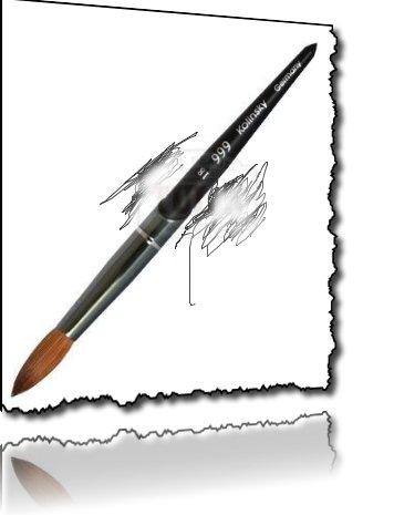 999 acrylic nail kolinsky brush#18 by 999 Germany