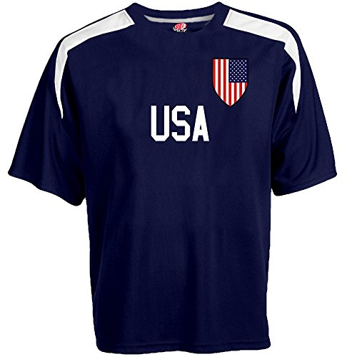 Hardkor Sports Customized USA Soccer Jersey Youth Large in Navy Blue and White - 1 Youth Football Jersey
