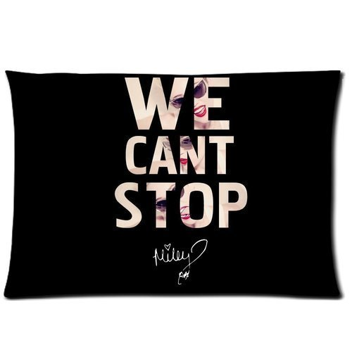 [Collectibles Miley Cyrus Custom Zippered Pillowcase Pillow Cases Cover 20x30 (Twin sides) Standard Size We Can Not Stop Quotes] (We Three Kings Costumes)