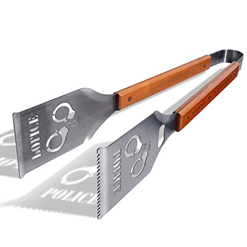 Universal Police Grill-A-Tong Stainless Steel BBQ Tongs