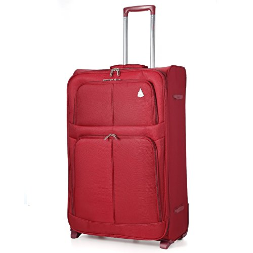 "Aerolite Super Lightweight World lightest Suitcase Trolley Cases Bag Luggage (29"", Wine (2 Wheel))"