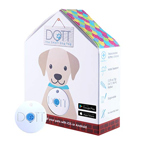 DOTT The Smart Dog Tag - Bluetooth Tracker for Dogs and Cats, Pet Finder, Virtual Leash, No Subscription (NOT A GPS Tracker)