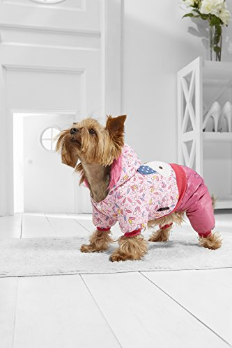 [Toy Dog Costume Rabbit Hoodie For Yorkie Pomeranian Chihuahua Papillon Min Pin (Small Toy Size, light pink,] (Pomeranian Costume)