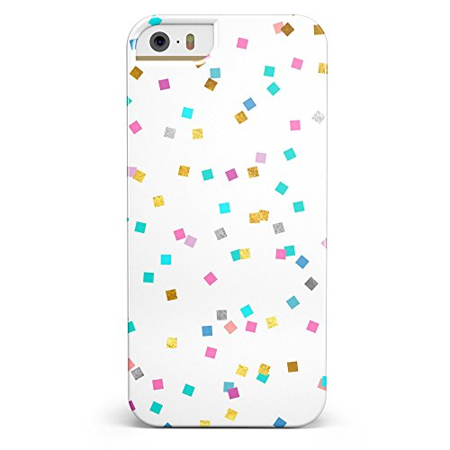 Multicolor Scattered Micro Blocks iPhone 5/5s or iPhone SE - Ultra High Gloss INK-Fuzed Case